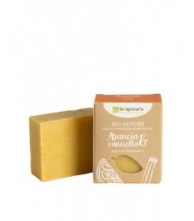 Sapone all'olio extra vergine ARANCIA E CANNELLA 100 gr - La Saponaria