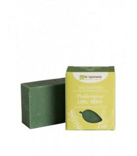 Sapone all'olio extra vergine MEDITERRANEO CON ALOE 100gr - La Saponaria