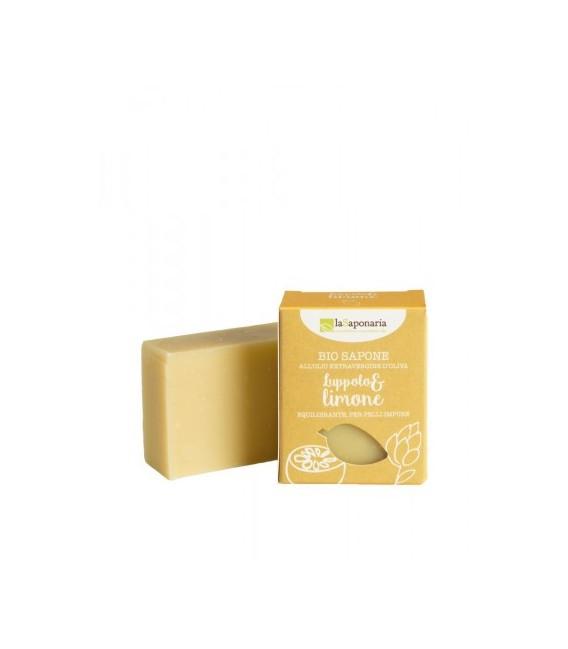 Sapone all'olio extra vergine LUPPOLO E LIMONE 100 gr. La Saponaria