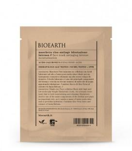 Maschera Viso in Tessuto Anti-Age Idratazione Intensa all'Acido Ialuronico. - 1 Monouso 15 ml - Bioearth