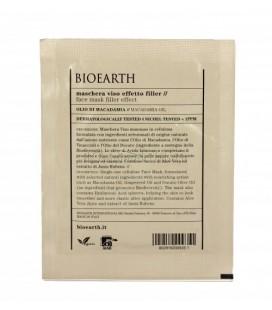 Maschera Viso in Tessuto Effetto Filler Olio di Macadamia - 1 Monouso 15 ml - Bioearth