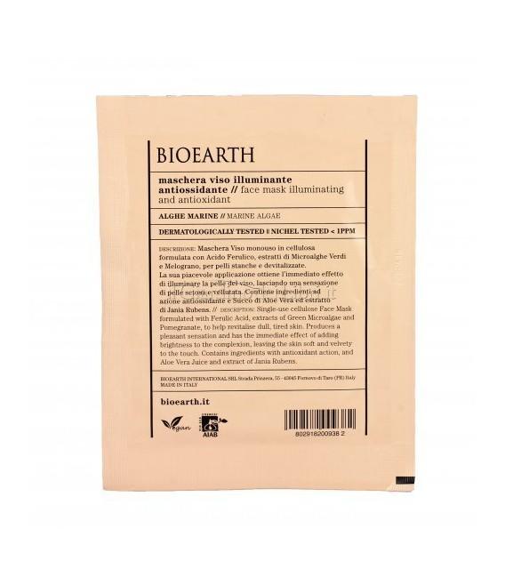 Maschera Viso Illuminante Antiossidante Alghe Marine - 1 Monouso 15 ml - Bioearth