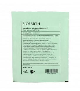 Maschera Viso in Tessuto Purificante Rosmarino - 1 Monouso 15 ml - Bioearth