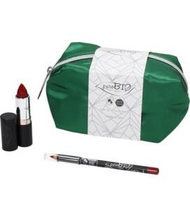 Pochette Raso Verde - Set Regalo B - PuroBio Cosmetics
