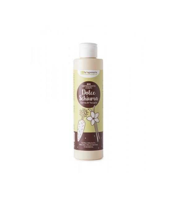 Detergente corpo Vaniglia e Carota - Dolce Schiuma 200 ml - La Saponaria