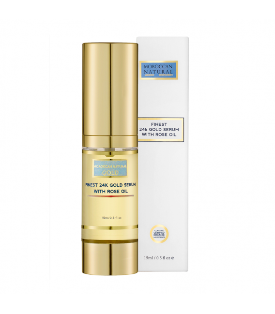 Finest 24K Gold Serum with Rose Oil - 15 ml - Moroccan Natural