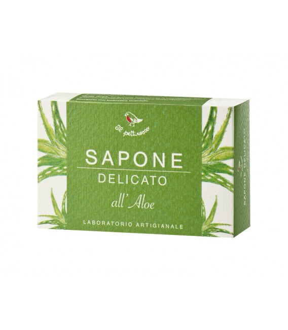 Sapone Delicato All'Aloe - 100 gr - Il Pettirosso Cosmetici