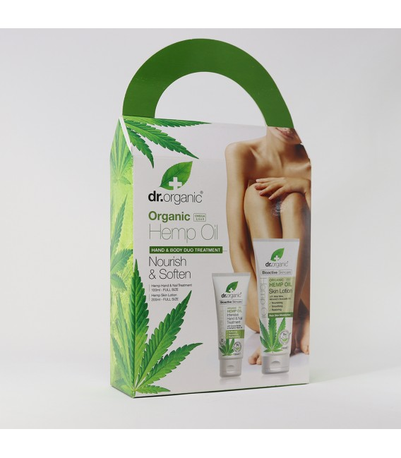 Box Crema Corpo + Crema Mani alla Canapa - 200 + 125 ml - Dr Organic