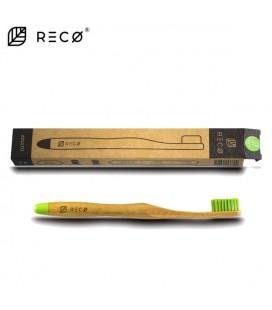 Spazzolino in Bamboo Setole Medie - VARI COLORI DISPONIBILI - Reco