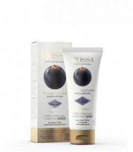 Scrub al Carbone - Pore Claryfing Charcoal Scrub 60 ml - Mossa Cosmetics