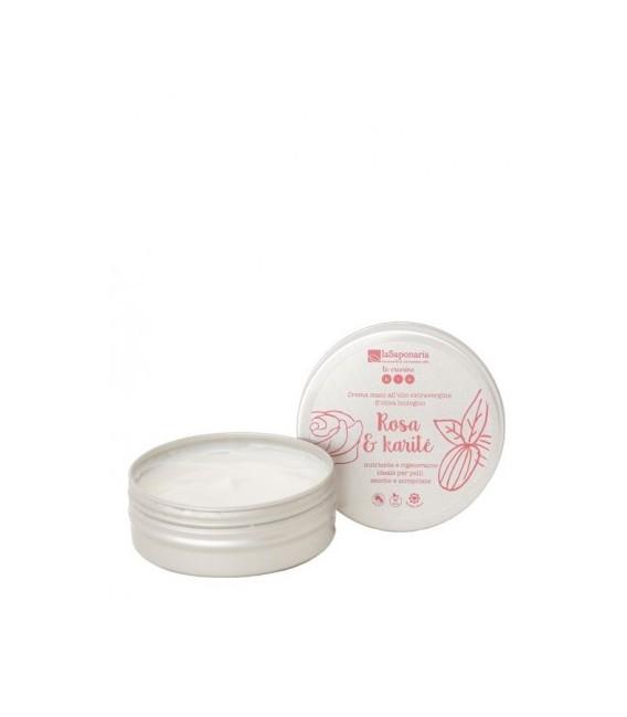 Crema Mani Rosa e Karitè 60 ml - La Saponaria