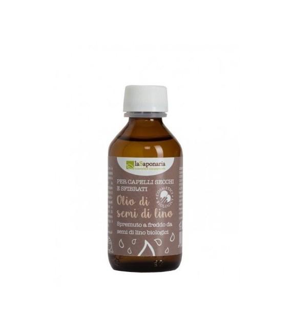 Olio di Semi di Lino Bio 100 ml - La Saponaria